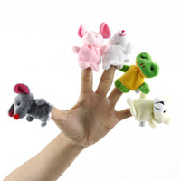 Wholesale 10 Cartoon Finger Puppet Finger Toy Finger Doll Animal Doll Baby Dolls for Kid s Fairy Tale Freeshipping H8742