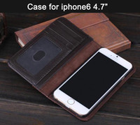 For Apple iPhone hard cover book - Vintage Books Style PU Leather Hard Case Purse Cover Card Holder Fashion Cases For iPhone iphone6 Case Brown CW0274