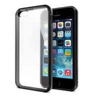 Wholesale SGP Super Slim Hybrid Case TPU bumper transparent rear panel cover for iPhone S iPhone inch DHL