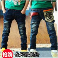 Wholesale Children s Jeans baby Kids pants Pure cotton spring autumn new Children s Clothing Boy s jeans trousers Leisure fashion jeans hot sale