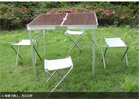 Wholesale High density Fire prevention board Ruggedized durable folding Outdoor tables with chairs For camping sandy beach