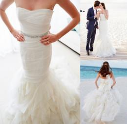 Wholesale Hot Custom made Tulle Sweetheart Slim Ruched Slimming Mermaid elegant Princess Long Bridal Wedding Dress Beach Wedding