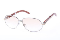 Acrylic Fashion Adumbral C 566 Wood Sunglasses In Silver