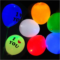 Wholesale Led Flash Balloon Christmas gift Wedding Birthday and Party Decoration light up balloons
