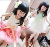 Summer New Children Girls Sleeveless Dresses 2014 Kids Cloth...
