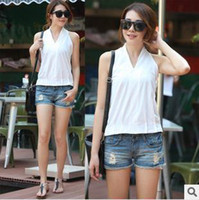 Women V-Neck Regular Free Shipping new 2014 summer fashion women T-shirt Temperament sling Cotton vest bottoming shirt F618