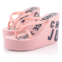 Wholesale 2014 Summer Women Shoes Lady High heeled Shoes Fashion Letter Printed Slipper Ms Shoes Beach Shoes K143E1