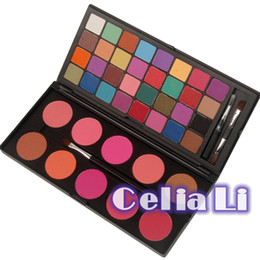 Wholesale Double Stack Shimmer and Matte Makeup Palette Colorful Colors EyeShadow Blush Palette PE05