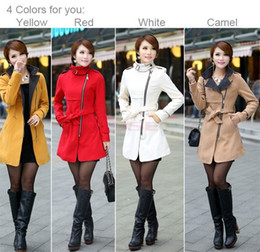 Wholesale Top Selling Women Long Winter Woolen Trench Stylish Euroamerican Fashion Warm Coat With Adjustable Belt SV006432