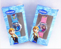 Wholesale Hot Sale Snow Princess Snow Romance spot Frozen children watch kids birthday gift boxed original single