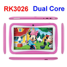 Wholesale Kids Education Tablet PC inch RK3026 Dual core Android Kitkat MB GB Kids Games Apps mini tablet Best gift colorful