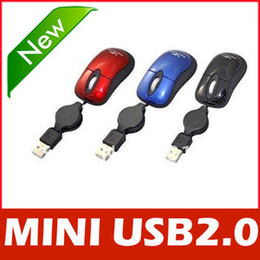 Wholesale Mini Retractable USB Optical Scroll Mouse for Laptop