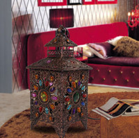 Wholesale Mediterranean Handmade Beaded Light Vintage Creative Personality Living Room Study Bedroom Bedside Table Lamp