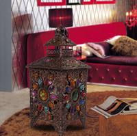 Wholesale Mediterranean Handmade Beaded Light Vintage Creative Personality Living Room Study Bedroom Bedside Table Lamp