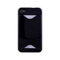 Cheap 10pcs free shipping for PC Plastic ID Credit Card Holder Back Case Cover for iphone 4S 5s