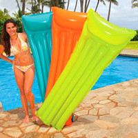 Wholesale 2014 HOT Summer Inflatable Pool Air Mattress Lounge Floating Raft Water Bed Aqua Fun Toys Swimming CX44