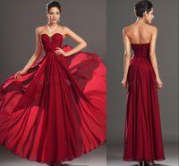 Burgundy Sweetheart Beads Ruffle A Line Bridesmaid Dresses 2...