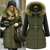 Long big goose - NEW winter women coat Fashion cotton jacket warm long coa European style big size Parkas women clothing