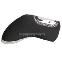 Wholesale Black Golf Club Sport Iron Head Covers HeadCovers Ball Arm Cap Sleeve H1E1
