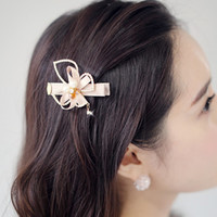 Barrettes & Clips Edge clip Black pink brown beige blue South Korea imported refined recommend full flower drop pendant diamond bow hairpin side clip duckbill clip