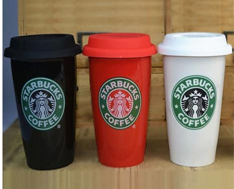 Wholesale Starbucks Ceramic Coffee Mugs Lids Mug Cups