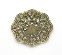 Wholesale Bronze Tone Flower Wraps Jewelry Findings Connectors mm W02622