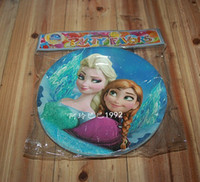 Birthday frozen party supplies - Hot selling New Frozen children party supplies cake plate children s birthday party supplies paper tray