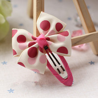 Barrettes Blending Patchwork Girls' Hair Accessories Multi-color Double Bow Hair Clips For Girls Polka Dot Flower Print Hair Bows For Girls