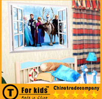 Wholesale Frozen Wall Stickers Home Décor kindergarten children room bedroom background waterproof can remove wall stickers