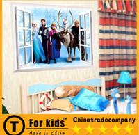 Wholesale Frozen Wall Stickers Home Décor kindergarten children room bedroom background waterproof can remove wall stickers