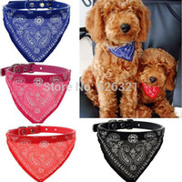 bandana dog harness - PC New Adjustable Pet Products Dog Cat Bandana Scarf Collar Neckerchief Colors Hot Sell Drop Shipping
