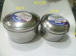 Wholesale Genuine Weihua stainless steel round lunch box lunch box with a dish of students across the bunk above shipping boxes