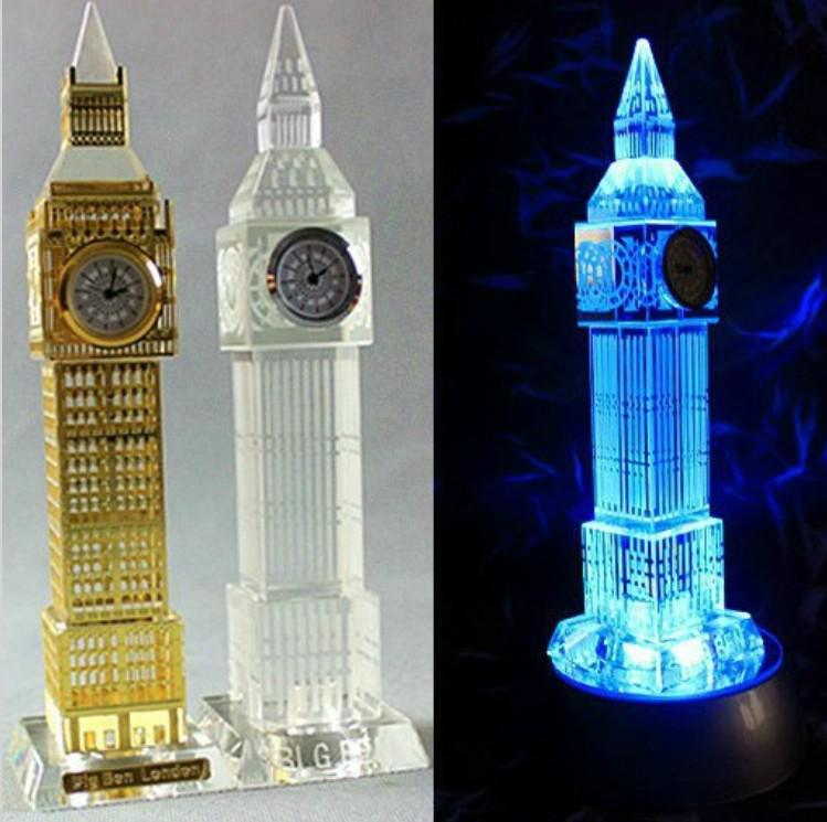 2018 new london big ben clock model flash crystal craft for Home decorations london