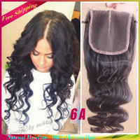 Wholesale 6A Grade Brazilian Loose Wave Closure Lace front Piece Natural Hairline Swiss Lace Closure With Bleached Knots Top Closure