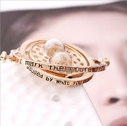Wholesale Harry Potter time turner necklace Hermione Granger s k Yellow plated girlfriend gift boutique necklace