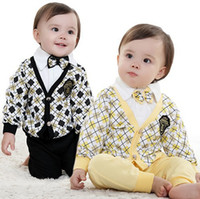 Girl Spring / Autumn Turn-down Collar 2013 new 3pcs baby clothing set fashion gentleman boys suit autumn -summer coat shirt pants kids spring clothes infant outfits