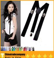 Wholesale 2014 braces straps Y back Suspenders Clip on Adjustable Unisex Pants Y back Suspender Braces Black Elastic belt belts belt belts g