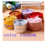 Wholesale 5Pcs Cardboard Round Jewelry Ring Necklace Earring Gift Package Case Box Display AE01126