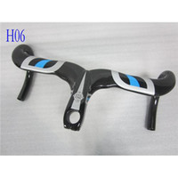Wholesale Hot Sale Most Carbon Fiber Bike Handlebars Black Blue Road Bike Handlebar K Weave Glossy Integrated Bicycle Handlebars Carbon Handlebar