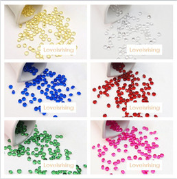 Wholesale set ct mm Acrylic Beads Diamond Confetti For Wedding Favors Table Scatter Wedding Party Decorations