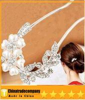 Hairpins same as image African 2014 new pearl tiaras Hair Jewelry hair Flowers Brooches Pins bridal hair accessories Pearl spiral clip wedding hair accessories
