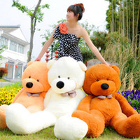 Wholesale Stuffed Teddy Bear Giant Big Cute Purple Pink Beige Brown Plush Huge Soft Cotton Toy cm quot