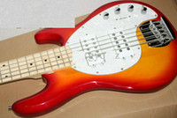 Solid active bass pickups - 5 strings Bass musicman stingRay bass Sunburst Red Two Active Pickups Electric bass Active controls with v battery