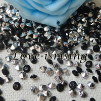 Wholesale set ct mm Black with Silver Plated Acrylic Beads Diamond Confetti Wedding Favors Table Scatter Wedding Favors Supplies