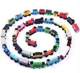 Wholesale Free shopping TRAIN CAR OF wooden Complete set of car toy train toys set