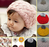 Winter best newborn quality - Best Quality Winter new Fall and Winter knitting wool hat cake hat lie fallow hat Melee