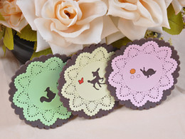 Wholesale Cute Cartoon Small Paper Coasters Cup Mat Insulation Pad PF161