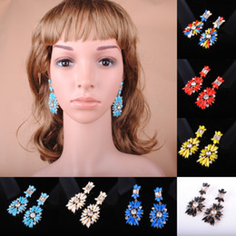 Earrings 2013 new fashion resin diamond earrings multicolor optional exaggerated
