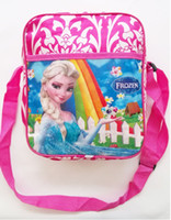 Wholesale 5pcs New Children s Bags Frozen Messenger Bags for Girls Frozen Princess Elsa Handbags Kids Single shoulder bags Children s schoo