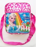 Wholesale 5pcs New Children s Bags Frozen Messenger Bags for Girls Frozen Princess Elsa Handbags Kids Single shoulder bags Children s schoo